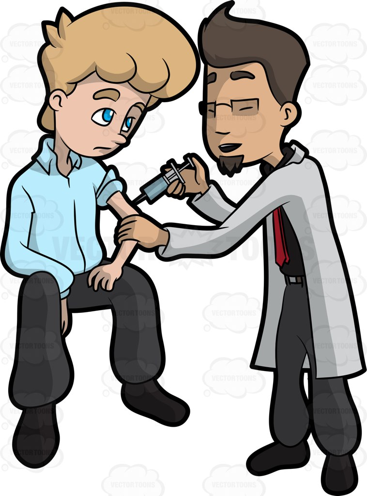 Showing post & media for Cartoon characters getting injection.