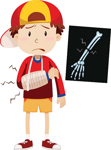 Injured Boy Clipart.