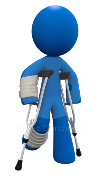 Free clipart injured worker.