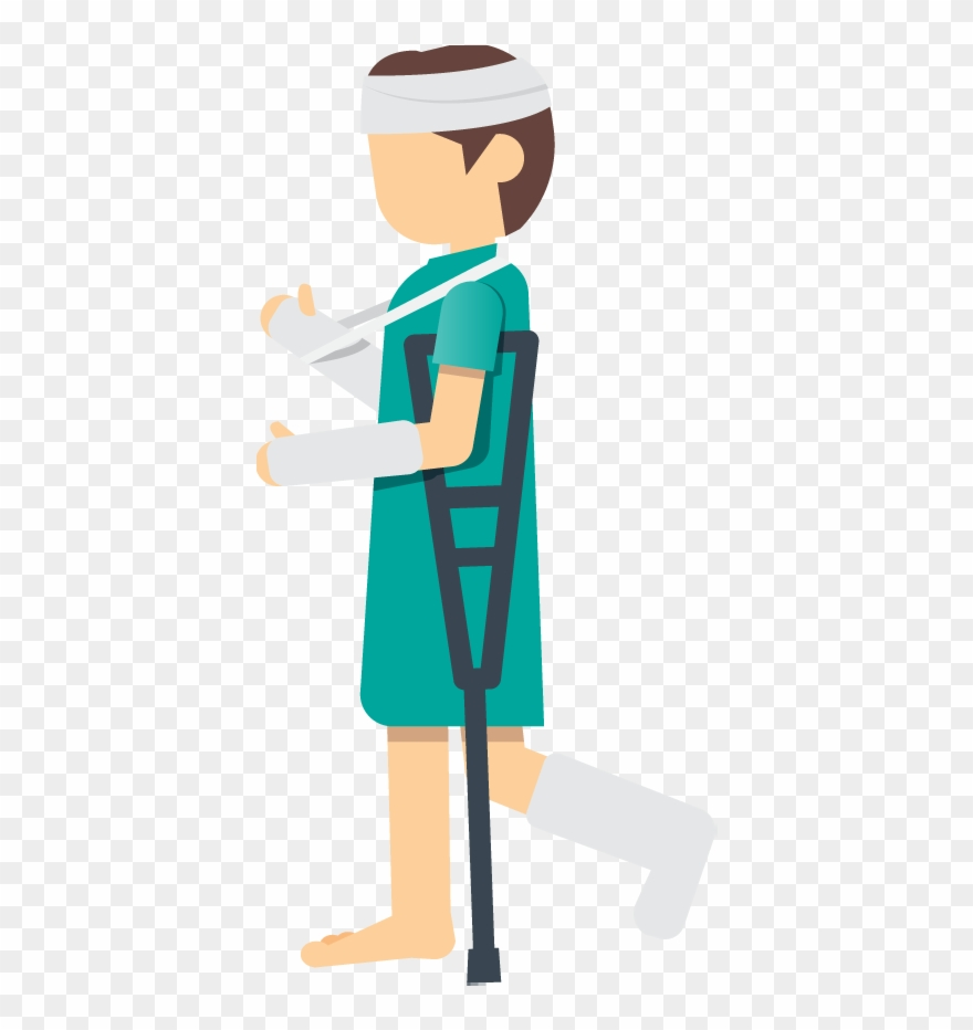 A Woman Patient With An Injured Leg Foot Or Ankle Using.