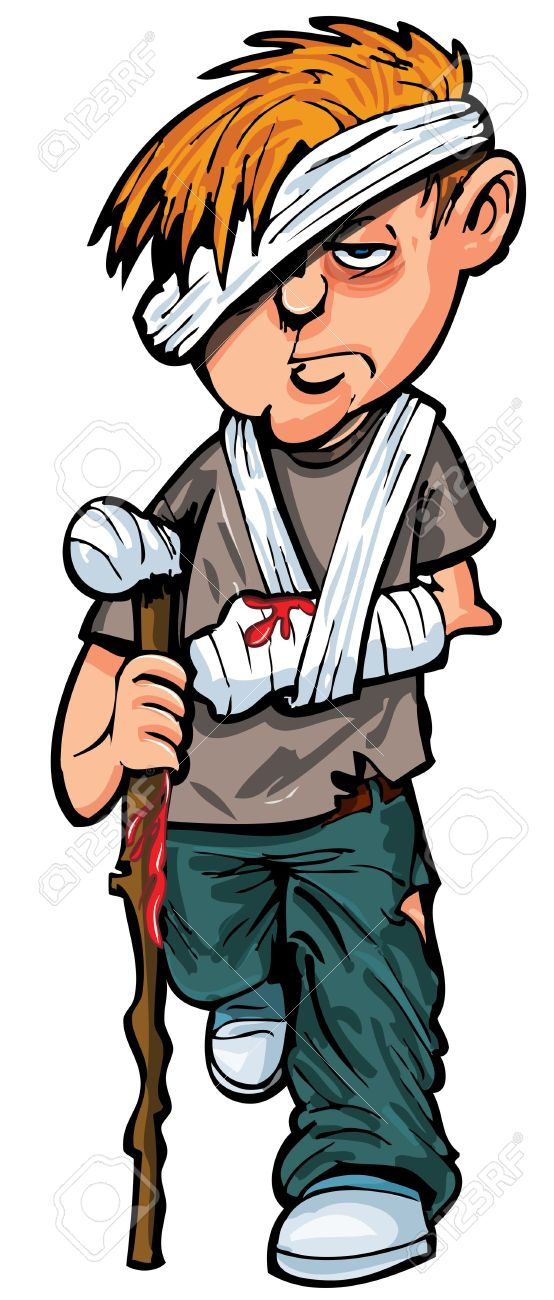 Wounded Man Clipart.