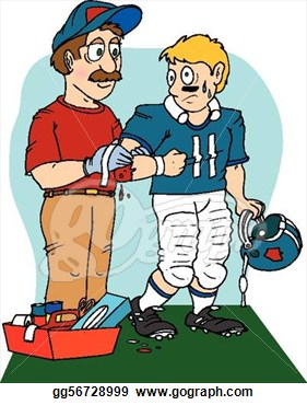 Sports Injuries Clipart.