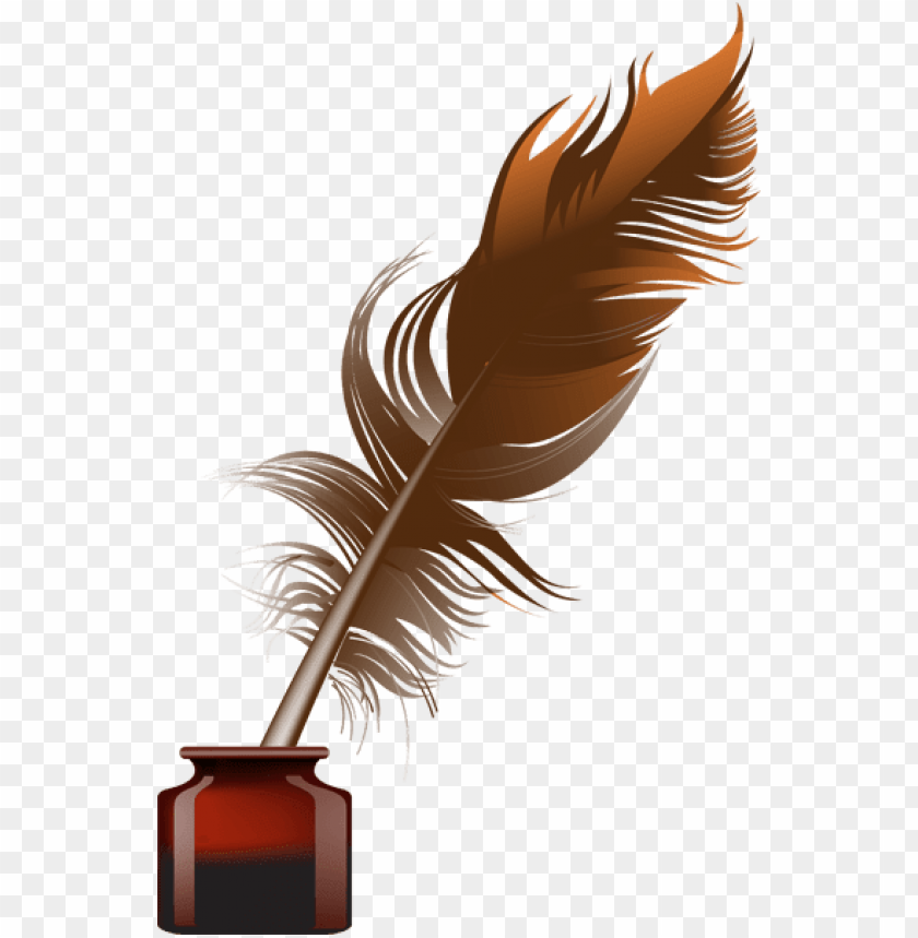 ink bottle and quill clipart.