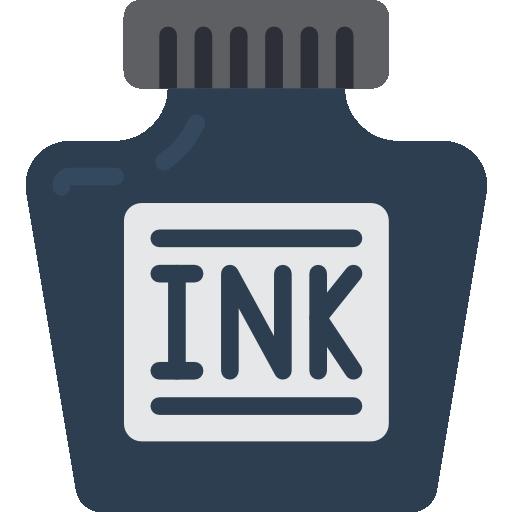 Ink bottle.