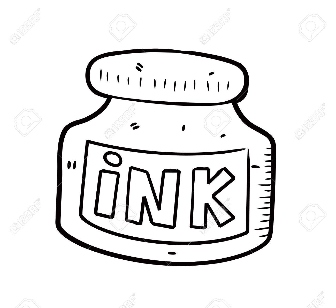 Ink bottle clipart » Clipart Station.