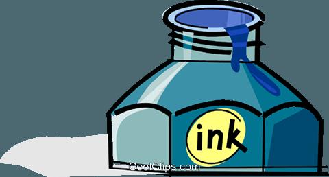 ink bottle Royalty Free Vector Clip Art illustration.