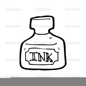 Ink Pot Clipart Black And White.