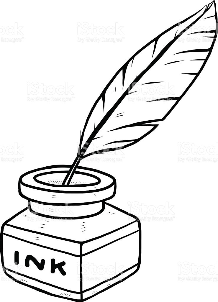 Clipart Black And White Ink.