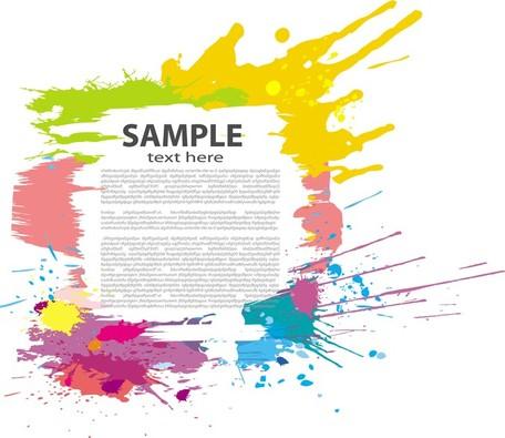 Color Ink Splash Poster, Clip Arts.