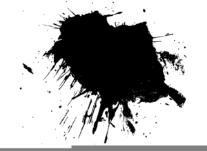 Free Ink Drop Clipart.