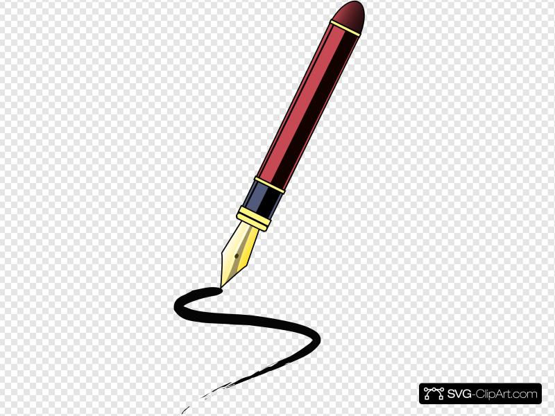 Ink Pen Clip art, Icon and SVG.
