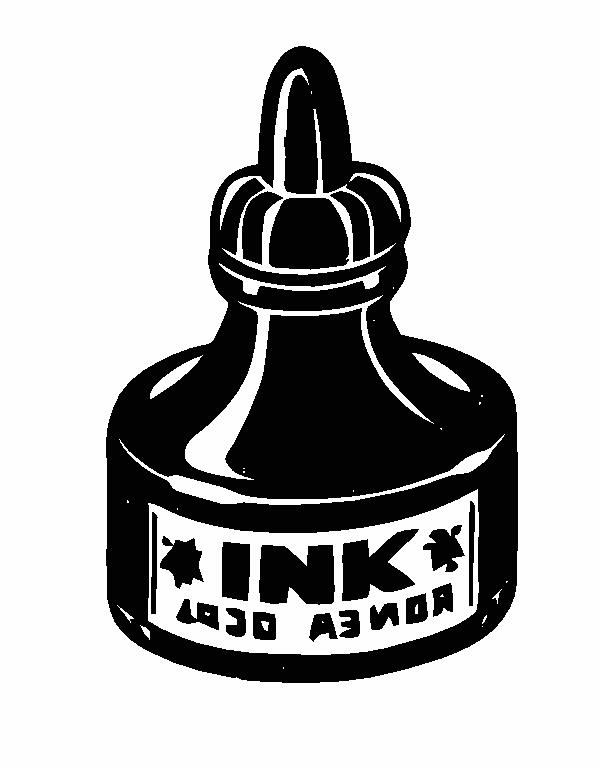 Ink Bottle Clipart.