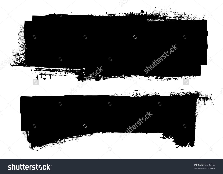 Black Grunge Ink Banner Paint Roller Stock Vector 57328765.