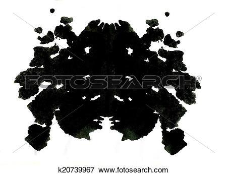 Stock Illustration of Rorschach inkblot test illustration.