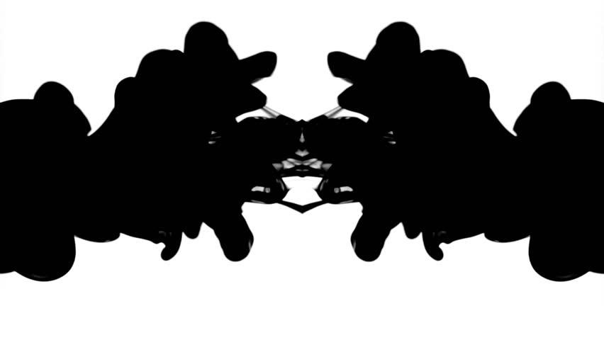 Rorschach Test Stock Footage Video.
