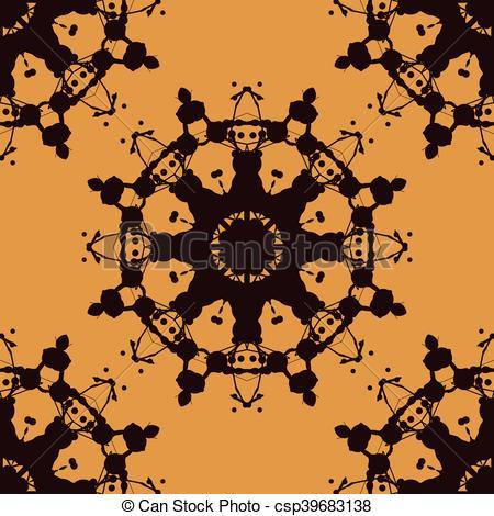 Vectors of Rorschach inkblot test vector seamless. Abstract blob.
