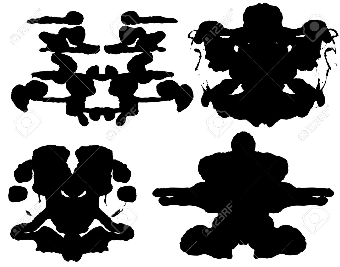 Inkblot Test Royalty Free Cliparts, Vectors, And Stock.