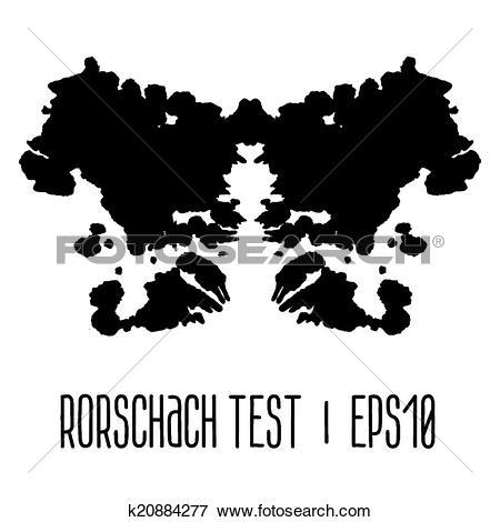 Clip Art of Rorschach inkblot test illustration k20884277.