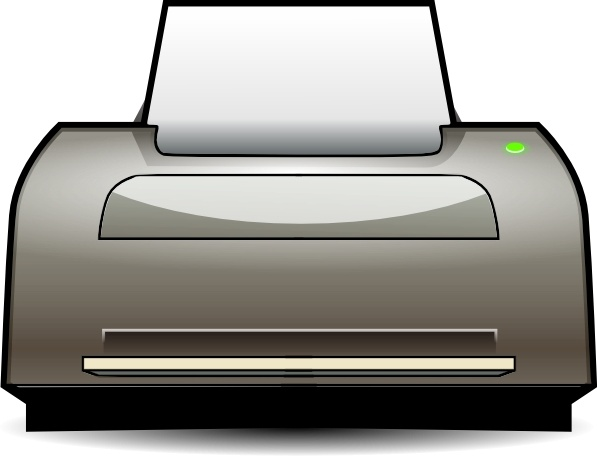 Inkjet Printer clip art Free vector in Open office drawing svg.