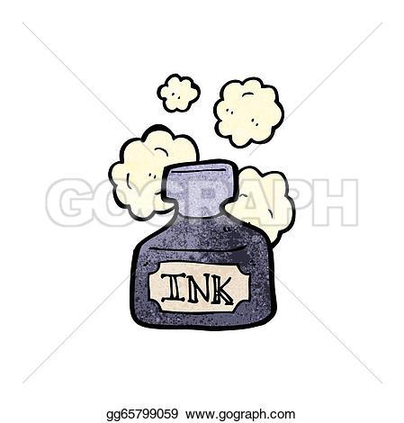 Ink Pot Clip Art.