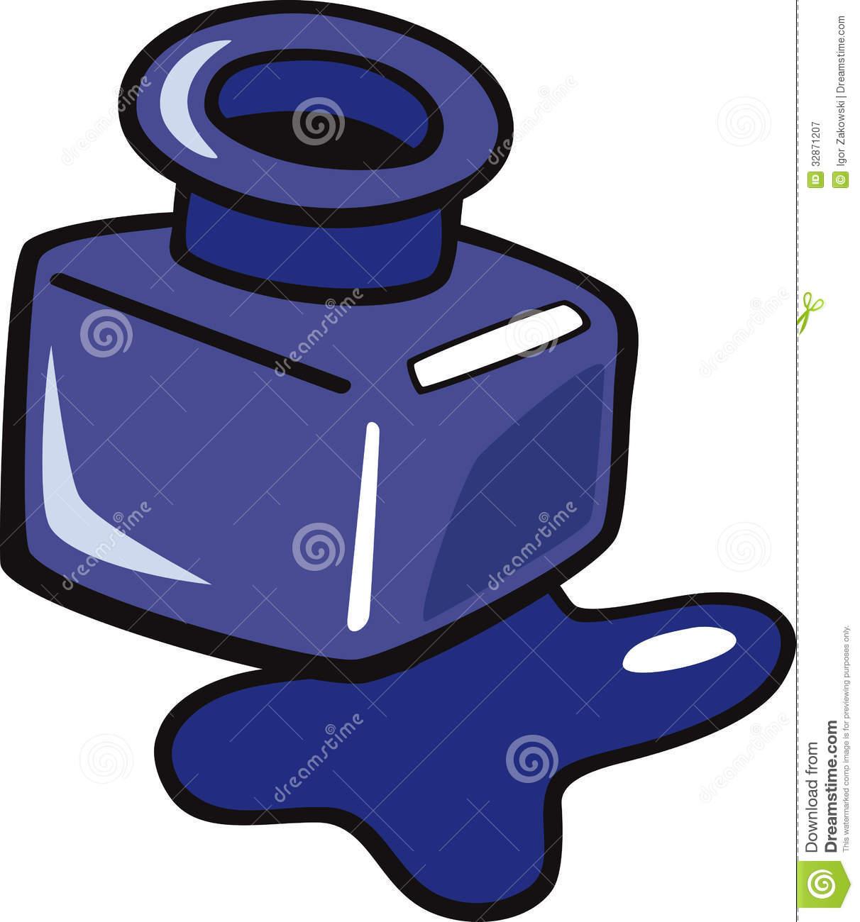 Ink Bottle Clipart.
