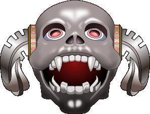 Inkscape Skull Corneum Clip Art at Clker.com.