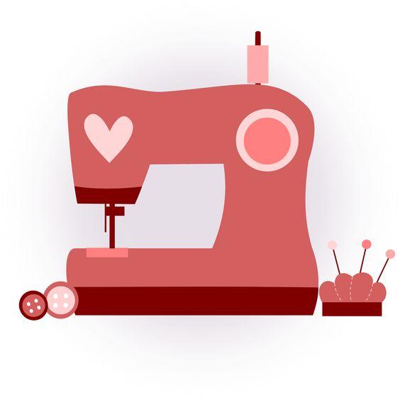 inkscape, clip art, rosa, corazón, diseño, máquina coser, costura.