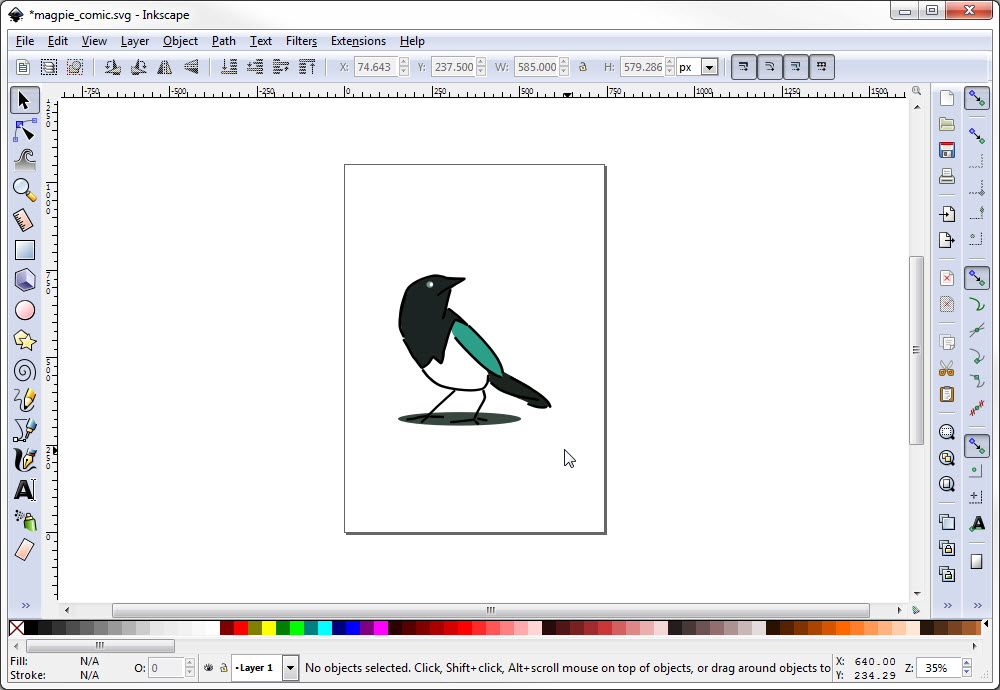 Exporting a Final PNG Image of Your Art in Inkscape.