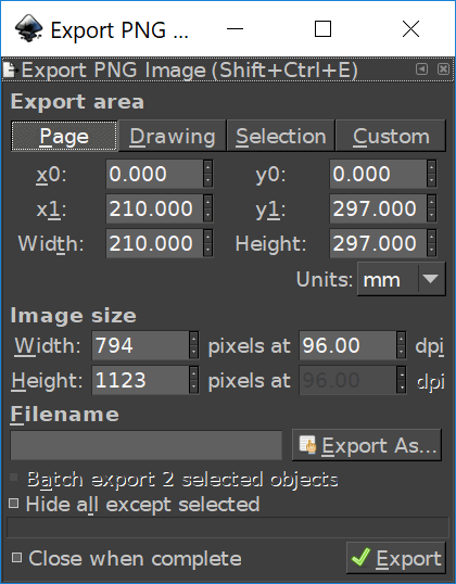 How To Save A Transparent PNG File with Inkscape.