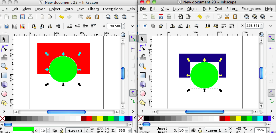 Inkscape: Copying an object, retaining transparency.