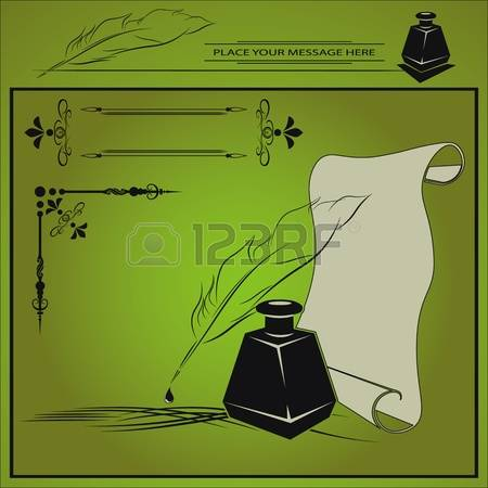 Inkstand Stock Vector Illustration And Royalty Free Inkstand Clipart.