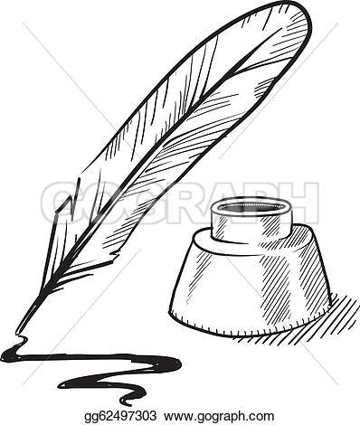 Inkwell Clip Art.