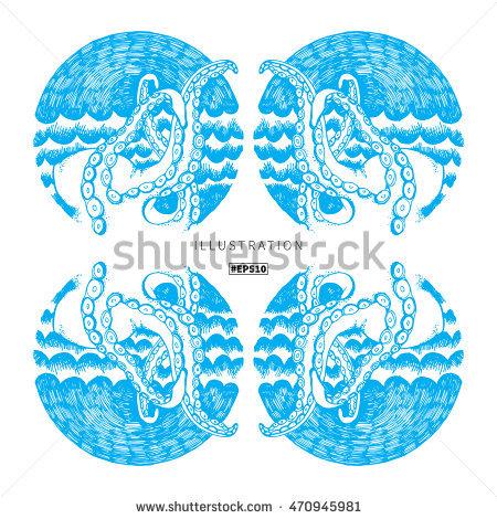Realistic Octopus Vector Stock Photos, Royalty.