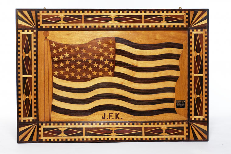 Inlaid Wood American Flag.