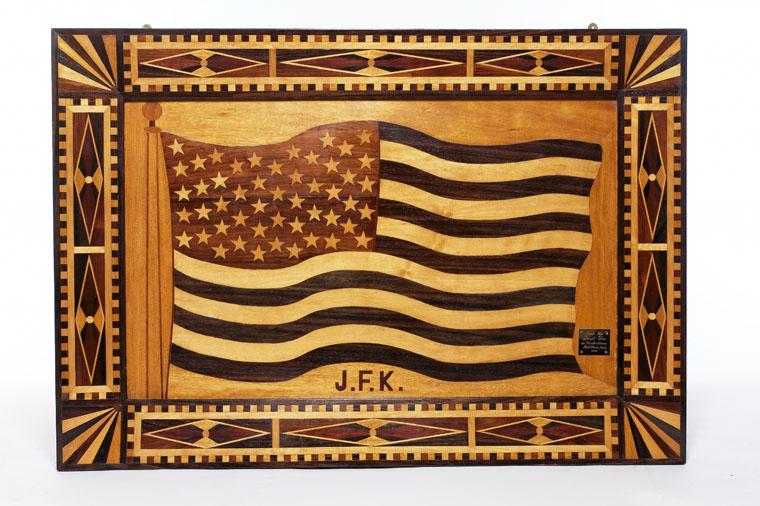 Inlaid Wood American Flag.