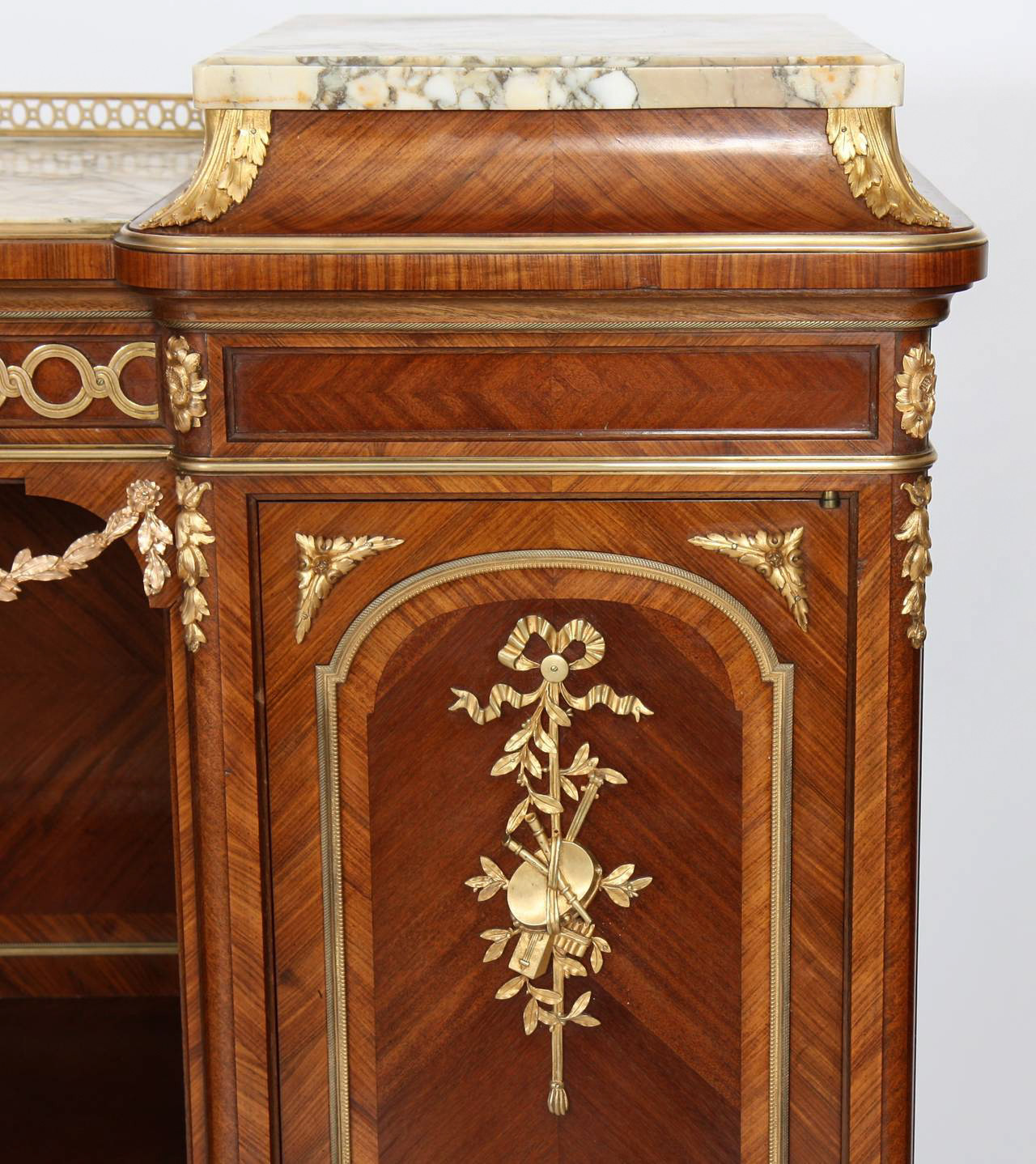 Inlaid Wood Music Cabinet by François Linke.