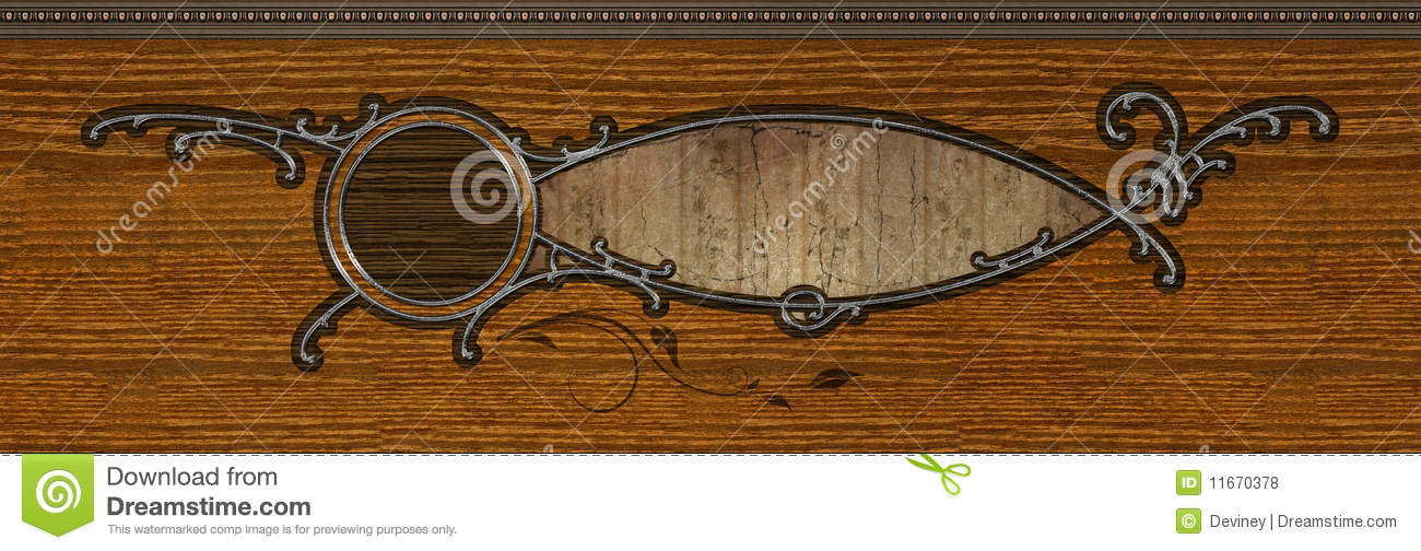 Abstract Inlaid Wood Design Royalty Free Stock Photos.