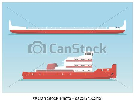 Inland waterways Clip Art Vector Graphics. 13 Inland waterways EPS.