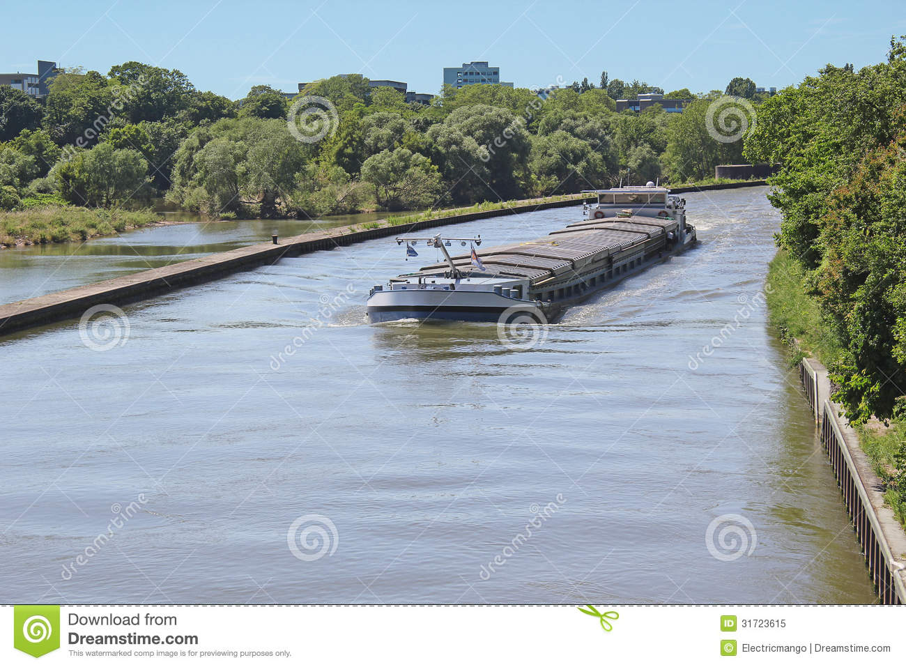 Inland Water Transportation Royalty Free Stock Photo.