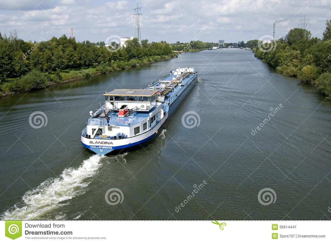 Inland Transport, Gas Tanker On Maas.