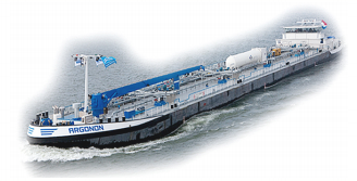 Inland waterway vessels.