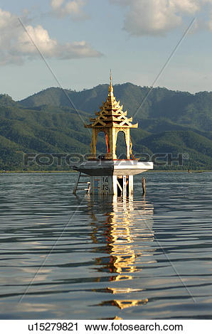 Stock Photography of Temple on Inle Lake u15279821.
