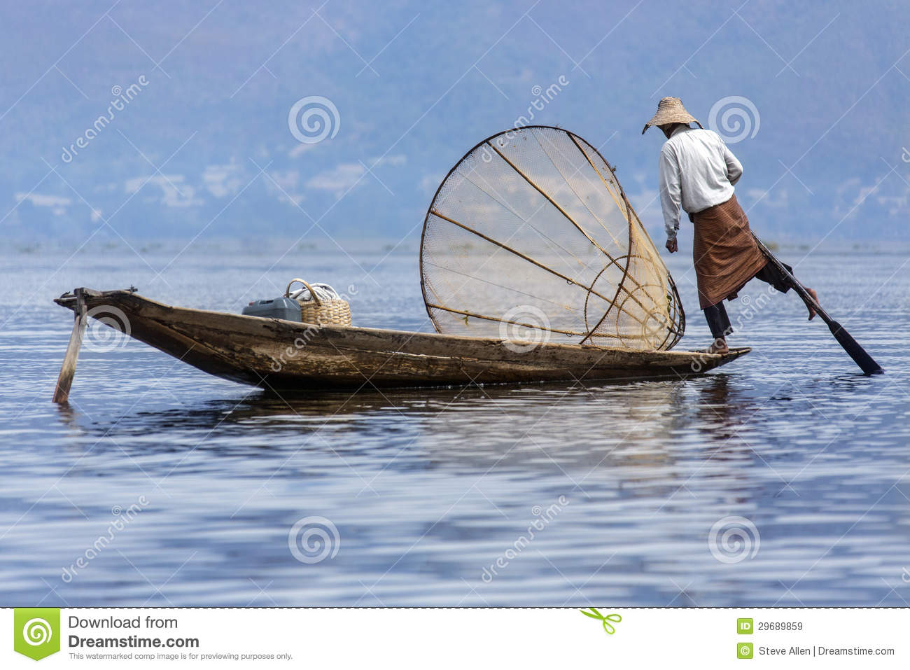 Inle Lake, Burma Stock Photo.