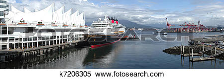 Stock Image of A panoramic view of the Burrard Inlet waterway at.