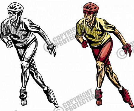 Inline skating clipart.