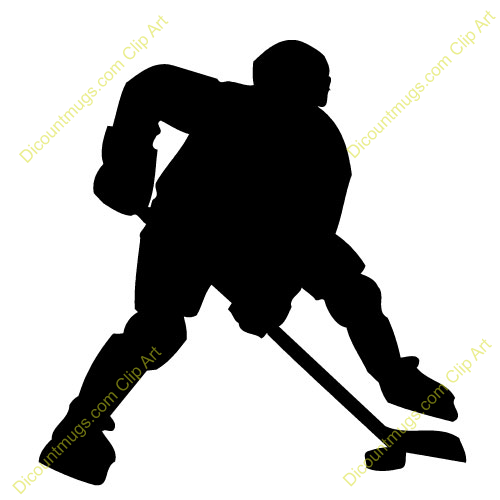 Hockey player clipart.