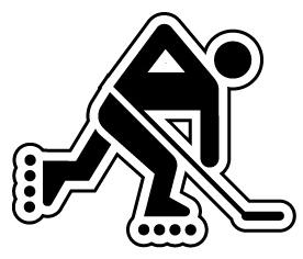 Inline hockey clipart.
