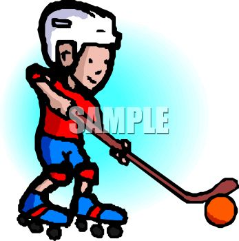 Girl Playing Hockey Clipart.
