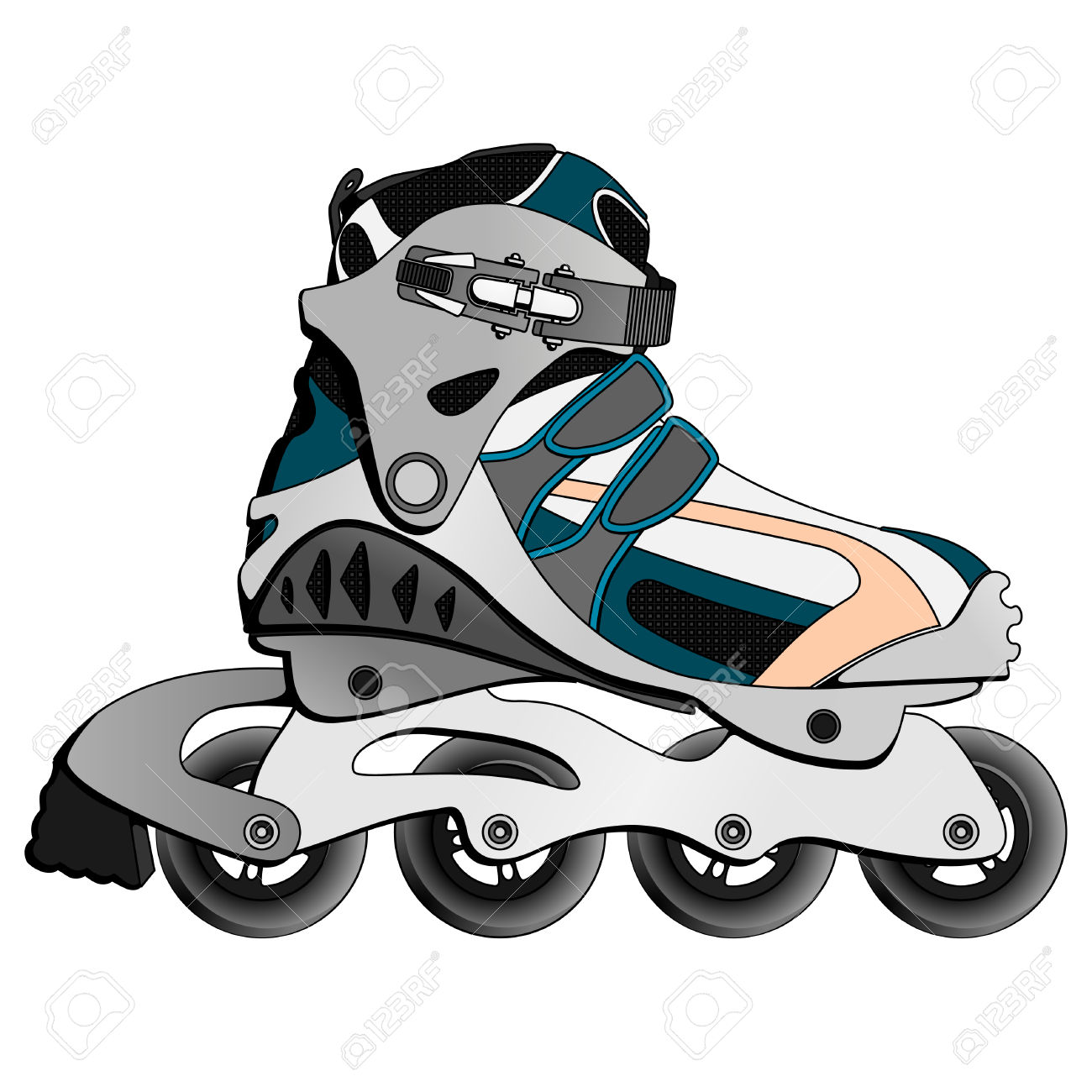 Inline Skate Boot Royalty Free Cliparts, Vectors, And Stock.
