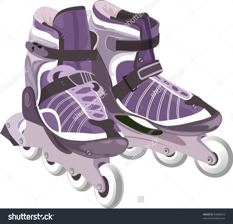 Inline Skates Stock Vector 22889818.